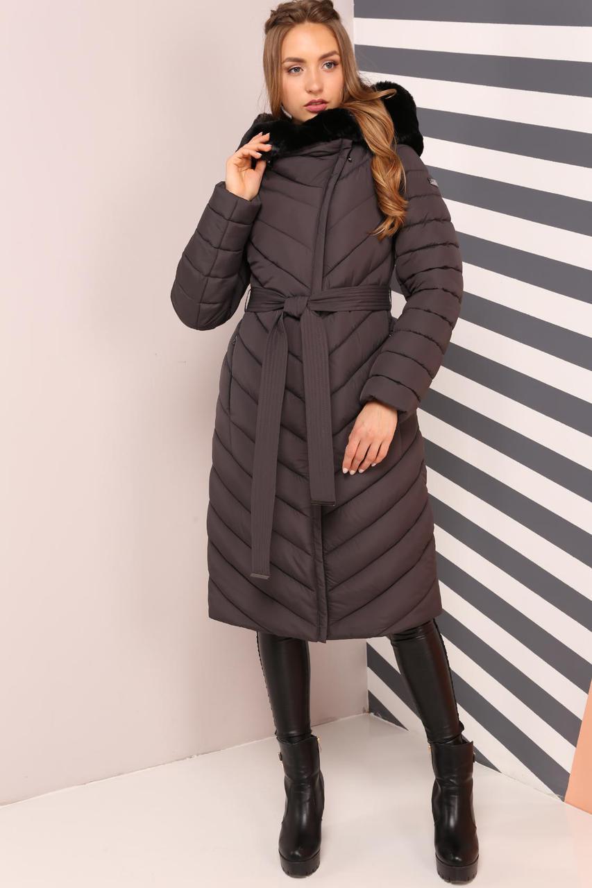 Зимнее пальто длиной за колено