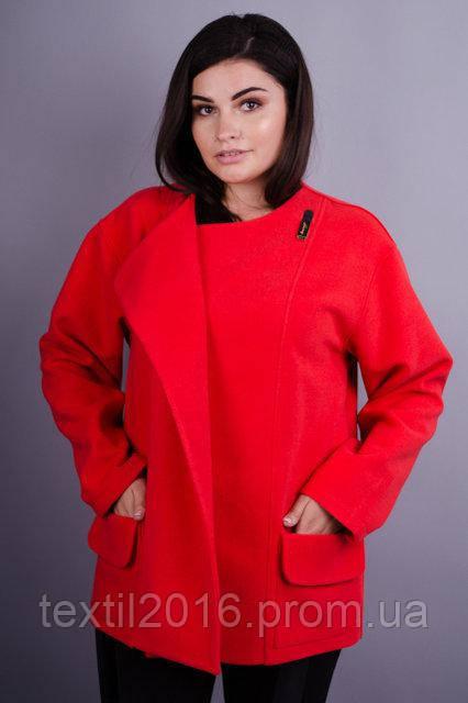 Пальто Гармония красный