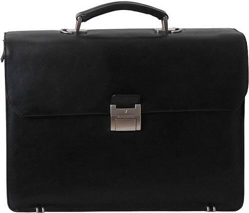 """Портфель кожаный деловой  для ноутбука 15,4"""" Vip Collection 52365A черный"""