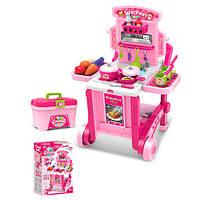 Детская игровая кухня с тележкой