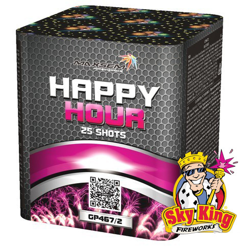 Cалют HAPPY HOUR 20мм. 25 выстр. Пиротехника и фейерверки