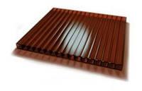 Сотовый бронзовый (коричневый) поликарбонат 6 мм Polynex