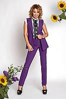 Женский костюм  Урсула большого размера удобный, деловой, повседневный  размеров 42, 44, 46, 48,50, 52,54, 56 ,   купить