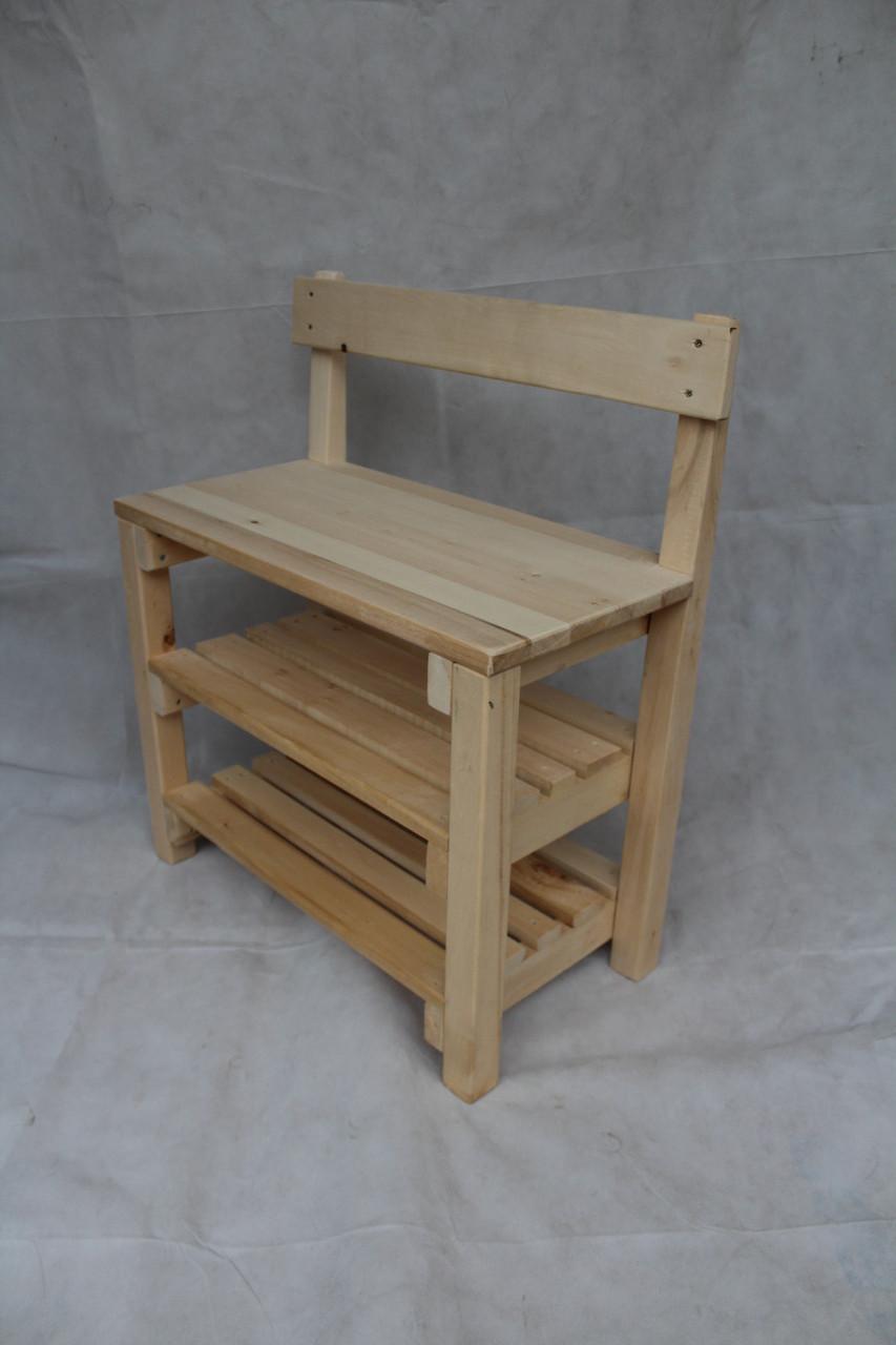 Банкетки деревянные 100см со спинкой