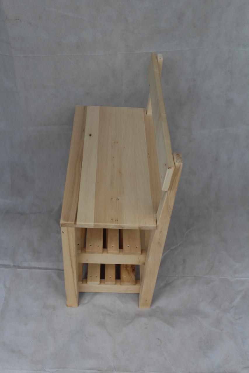 Банкетка со спикной деревянная 60см