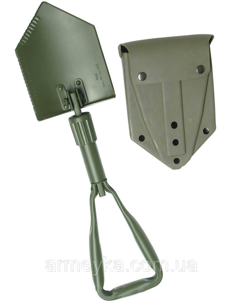 Армейская трехсоставная складная лопатка в футляре. Великобритания, оригинал.