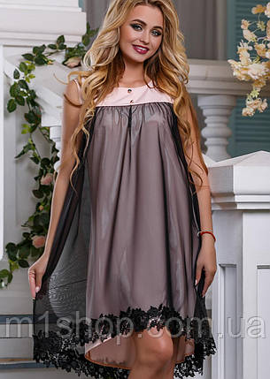 Женское расширенное платье с сеткой (2644-2646-2645 svt), фото 2