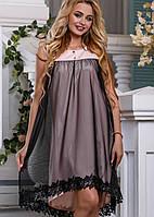 Женское расширенное платье с сеткой (2644-2646-2645 svt)