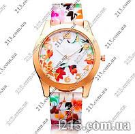 Часы Geneva Flower Женева на силиконовом ремешке