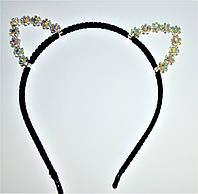 """Обруч для волос - """"ушки"""" цветочки"""