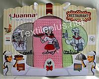 Полотенца кухонные вафельные - Juanna - Restaurant - 3шт. 45*70 -100% хлопок - Турция - (kod 1212)