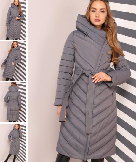 Женственное зимне пальто