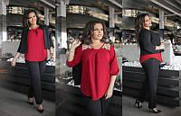 Женский нарядный костюм тройка пиджак+брюки+блуза размеры: 50-52, 54-56, 58-60