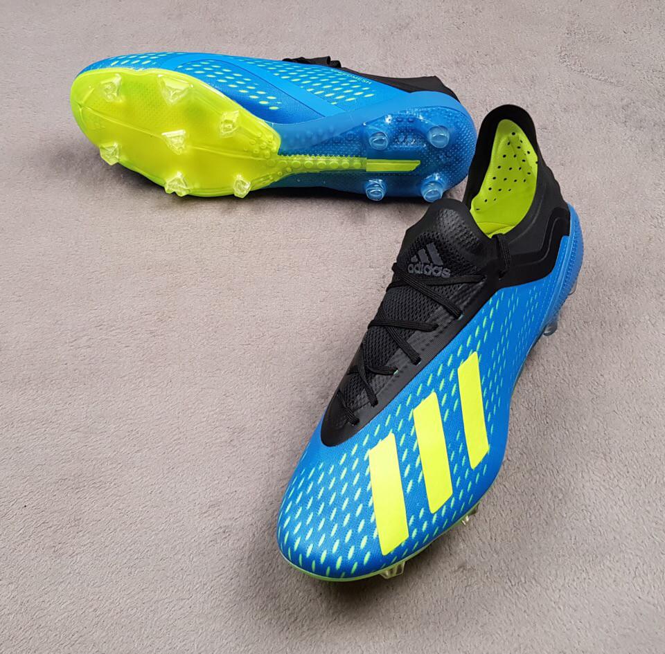 0bd4b6abb6d2 Бутсы Adidas X 18.1, синие, пластиковые шипы, беговые, футбольные -  Гипермаркет спорттоваров