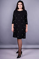 Хит. Модное платье Жемчуг черный