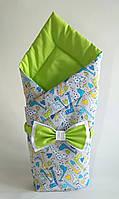 Осенний конверт на выписку из роддома, одеяло для новорожденного 09