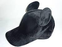 Велюровая кепка с ушками Мики