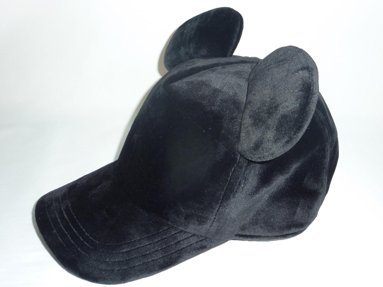 Велюровая кепка с ушками Мики, фото 1