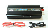 Преобразователь напряжения мощность 2000Вт UKC Power Inverter 12/220V автомобильный инвертор, фото 1
