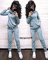 Костюм женский, кофта с капюшоном и штаны, размеры С и М