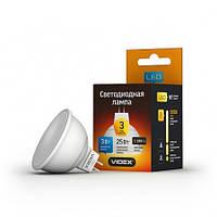 LED лампа VIDEX  MR-16, 3W, GU5.3, 4100K, 220V