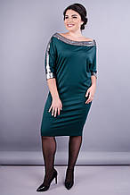 Платье  праздничное Клео изумруд