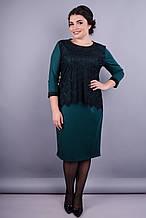 Платье Винтаж изумруд