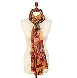 Палантин шерстяной 10497-2, павлопосадский шарф-палантин из разреженной шерсти, фото 2