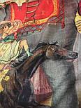 Палантин шерстяной 10497-2, павлопосадский шарф-палантин из разреженной шерсти, фото 5
