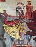 Палантин шерстяной 10497-2, павлопосадский шарф-палантин из разреженной шерсти, фото 4