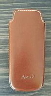 Чехол Кисет для Nokia 8800, Nokia 8800 Sirocco, Nokia 8800 Arte Sapphire Brown, Коричневый, Натуральная кожа, A-Case (Производство Турция), фото 1