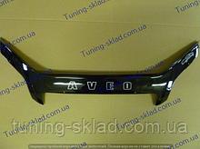 Дефлектор на капот Chevrolet Aveo 3 T250 (2006-2011) седан  (Шевролет)