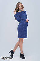 Платье для беременных и кормящих Annita р. 44-50 ТМ Юла Мама Синий меланж DR-48.121