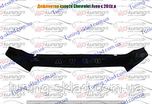 Дефлектор на капот Chevrolet Aveo T255 (2008-2012) хэтчбек  (Шевролет)