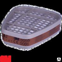 Фильтр 3M™ 6055 от органических газов и паров для респираторов серии 6000 / 7500, уровень защиты класс А2