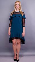 Платье Лика изумруд