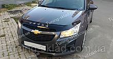 Дефлектор на капот Chevrolet Cruze (2009-) длинный (Шевролет Круз)