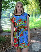 Летнее легкое платье с красивейшим орнаментом