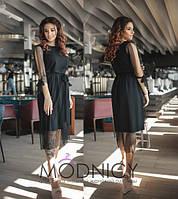 Коктейльное платье миди  / софт. сетка / Украина 36-3839, фото 1