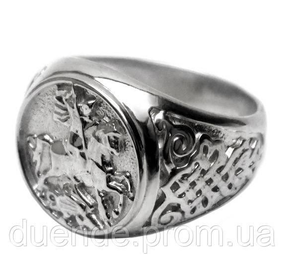 Срібний перстень Георгій Побідоносець / Mz 040п