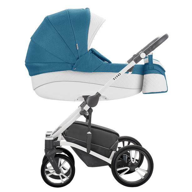 Детская универсальная коляска 2 в 1 Bebetto Tito S-Line CH01