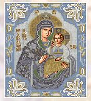 Алмазная вышивка 20*25 икона Божьей матери голубая, сами и сна