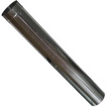 Труба дымоходная 1 метр х 140 мм х 0.45 мм оцинкованная (вентиляционная), фото 2
