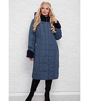 32893ac6096 Зимнее женское пальто из плащевки с эко-мехом рр 52-60