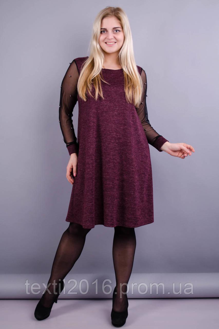 Платье Тала бордо