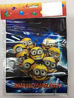 """Пакеты подарочные, сумочки полиэтиленовые детские для подарков """"Миньёны"""""""