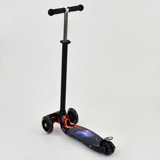 Самокат детский трехколесный Best scooter MAXI с граффити, от 3 лет