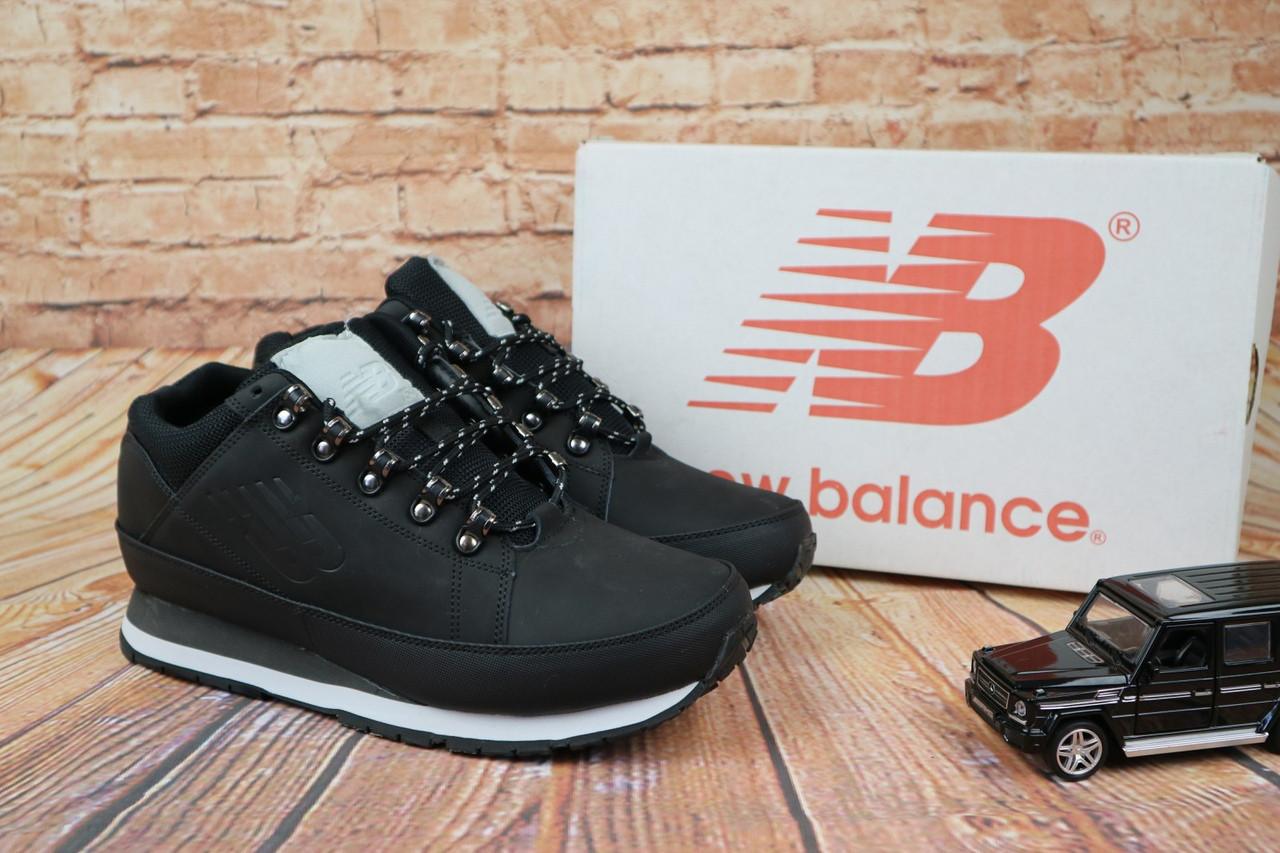Зимние мужские ботинки  New Balance 754 повседневные стильные на меху топовые (черные), ТОП-реплика