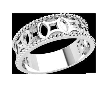 Кольцо  женское серебряное Эльза 21247