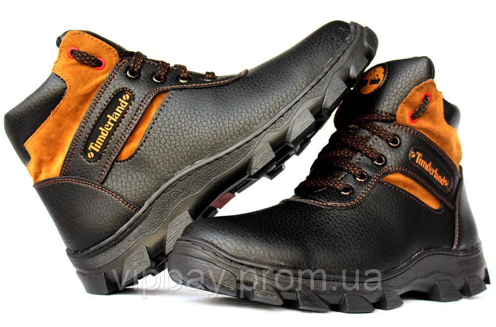 Чоловічі черевики зимові на хутрі в стилі Timberland (СГБ-15ч)  413 ... 4399b9b3bb2f3